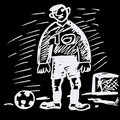 Soccer handrawn comic illustration. Royalty Free Stock Photography