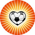 Soccer heart. Stock Image