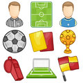 Soccer icon sport illustration of a set Stock Photo