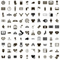 100 Soccer Icons set Royalty Free Stock Photo
