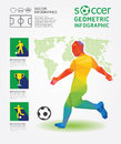 Soccer infographic geometric concept design colour illustration vector Stock Images