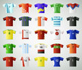 Soccer jersey t shirt set on grey background Royalty Free Stock Photos