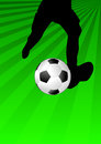 Soccer kicker Royalty Free Stock Photography