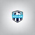 Soccer Logo Design Template , Football badge team identity , Soccer Football T-shirt graphic. Royalty Free Stock Photo