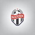 Soccer Logo Design Template ,Football badge team identity , Soccer Football T-shirt graphic .