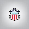 Soccer Logo Design Template , Football badge team identity.