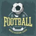Soccer logo or football team emblem for t-shirt Royalty Free Stock Photo
