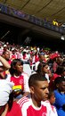 Soccer match fans at cape town studium Royalty Free Stock Photography