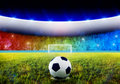 Soccer penalty kick Royalty Free Stock Photo