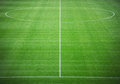 Soccer pitch neat in stadium Stock Images