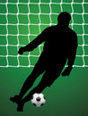 Soccer player and ball Royalty Free Stock Image