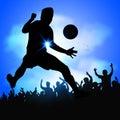 Soccer player celebrates goal Royalty Free Stock Photo