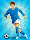 Soccer Player Dribble a Ball Royalty Free Stock Image