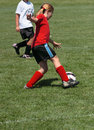 Soccer Player Kicking Ball Royalty Free Stock Photo