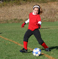 Soccer Player Kicking Ball 55 Royalty Free Stock Photo