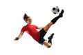 Soccer Player Kicking Ball Royalty Free Stock Photo