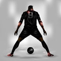 Soccer player ready to shoot Royalty Free Stock Photo