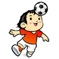Soccer players mascot ball stunts beak sports character design series Stock Photos