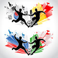 Soccer players representing countries different Royalty Free Stock Photos
