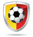 Soccer shield Stock Image