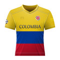 Soccer shirt in colors of colombian flag