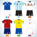 Soccer shirts Royalty Free Stock Photo