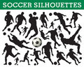 Soccer silhouettes Royalty Free Stock Photography