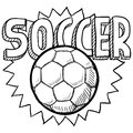 Soccer sketch Royalty Free Stock Image