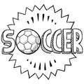 Soccer sketch Royalty Free Stock Photos