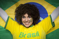 Soccer Sport Fan Supporter Brazil Royalty Free Stock Photo
