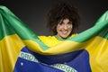 Soccer Sport Fan Supporter Brazil Stock Image
