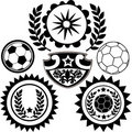 Soccer Sports Crests Vector Il...