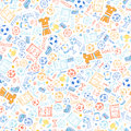 Soccer Sports Seamless Pattern Stock Photos