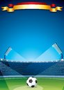 Soccer stadium background vector design template this is file of eps format Royalty Free Stock Photo