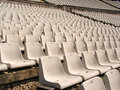 Soccer stadium chairs Stock Photo