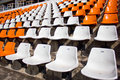 Soccer stadium empty seat Stock Photo