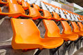 Soccer stadium empty seat Royalty Free Stock Image