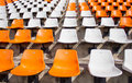 Soccer stadium empty seat Royalty Free Stock Images