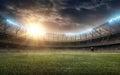 Soccer stadium 4 Royalty Free Stock Photo
