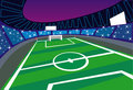 Soccer Stadium illustration Stock Photo