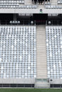 Soccer stadium seat Royalty Free Stock Photo