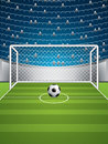 Soccer stadium sport vector illustration Stock Image