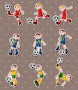 Soccer stickers Royalty Free Stock Image