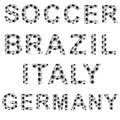 Soccer style words d render image high quality Stock Images