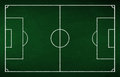 Soccer tactic board green chalk Stock Image