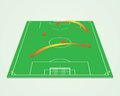 Soccer tactic table Royalty Free Stock Photo