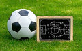 Soccer Tactics Chalkboard with Leather Ball
