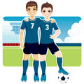 Soccer Team Friends Royalty Free Stock Photography