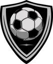 Soccer Template with Shield Royalty Free Stock Image