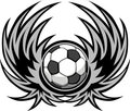 Soccer Template with Wings Royalty Free Stock Photo